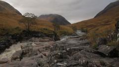 Glen Etive, Scotland - stock footage