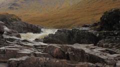 The River Etive in Glen Etive, Scotland - stock footage