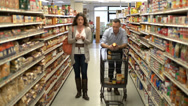 Stock Video Footage of Married couple shopping for groceries (9 of 9)