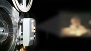 Stock Video Footage of old projector showing film