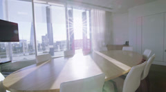 Interior view of empty meeting room in a modern London office building Stock Footage