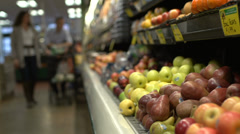 Picking up groceries from the store (4 of 8) - stock footage