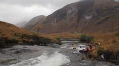 River Allt Chorain in Glen Etive, Scotland - stock footage