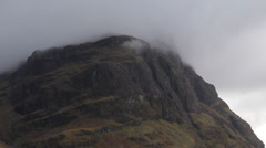 A mountain top in Glen Coe, Scotland Stock Footage