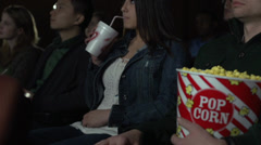 Staring at the movie screen (4 of 5) - stock footage