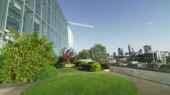 Outdoor view of the London city skyline Stock Footage