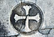 Stock Photo of marble headstone gothic cross background