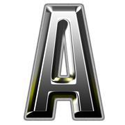 3d silver font illustration Stock Illustration