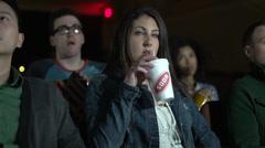 Enjoying a movie (2 of 4) - stock footage