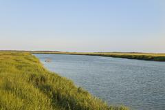 tybee island waterway - stock photo