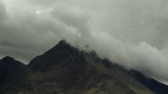 Queenstown Timelapse clouds break across mountain Stock Footage