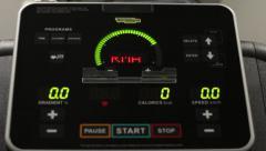 Running treadmill dashboard Stock Footage