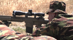 US - Army - Sniper Training 25 Stock Footage
