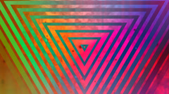 Abstract multicolored triangle episode 2 Stock Footage