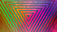 Stock Video Footage of Abstract multicolored triangle episode 2