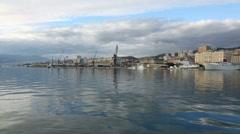 Rijeka City Panorama Stock Footage
