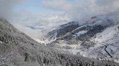 Alps ski resort timelapse Stock Footage