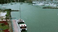 British Virgin Islands Tortola Road Town 053 catamaran at the pier - stock footage