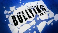 Breaking bullying animation - stock footage