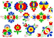 Stock Illustration of Moravian folk ornaments (vector version; available as raster too)