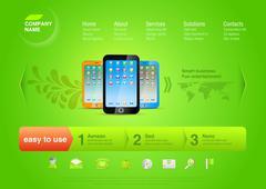 Business logo application and games website for mobile smartphones. Stock Illustration