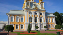 Ornate dome in Peterhof park - Saint-petersburg Russia Stock Footage