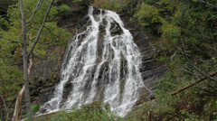Stock Video Footage of Lower Bertha Fall Waterton Park