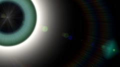 Pupil eye eyeball.Attention focus news.Glow God halo.Space universe ray light. Stock Footage