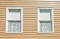 musical windows - stock photo