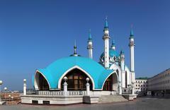 Kul sharif mosque in kazan Stock Photos