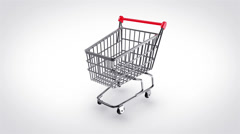 shopping cart map - stock footage