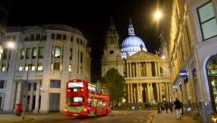 Traveling view of st. paul's cathedra in London Stock Footage