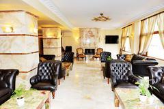 Lobby interior of the luxury hotel, halkidiki, greece Stock Photos