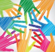 Union touch. vector illustration Stock Illustration