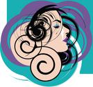 Stock Illustration of beautiful woman face illustration
