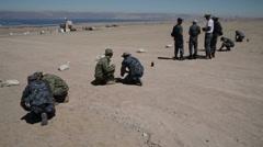 US - Army - Training Jordanian Soldiers 02 - Bomb Preparation - stock footage