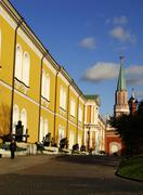 kremlin arsenal building, moscow kremlin complex, russia - stock photo