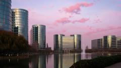 Oracle Headquarters, Silicon Valley, Timelapse - stock footage