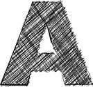 Stock Illustration of hand draw font. letter a