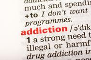 Stock Photo of Addiction Word Definition