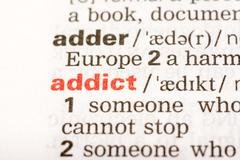 Addict Word Definition Stock Photos