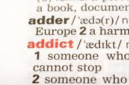 Stock Photo of Addict Word Definition