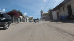 Armed Somali Soldiers Wind Through Streets Accented by Hanging Wires of - stock footage