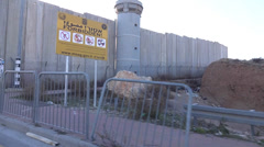 Israel Palestine wall and checkpoint  Stock Footage