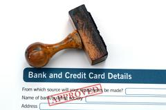 Bank form - approved Stock Photos
