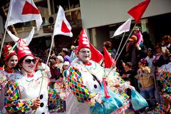 cyprus carnival parade in limassol - stock photo