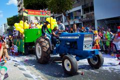 limassol carnival parade in cyprus - stock photo