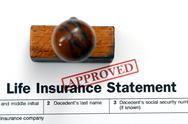 Stock Photo of life insurance statement