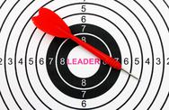 Stock Photo of leader target concept