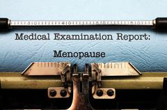 medical report - menopause - stock photo